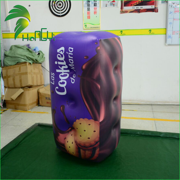 Promotional PVC Decorate Inflatable Box Replica / Custom Made Advertising Inflatable Air Package Boxes Model