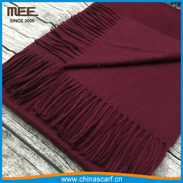 wine red online shop supply china factory big wool scarf