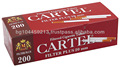 Cigarette filtered tubes CARTEL 100's RED