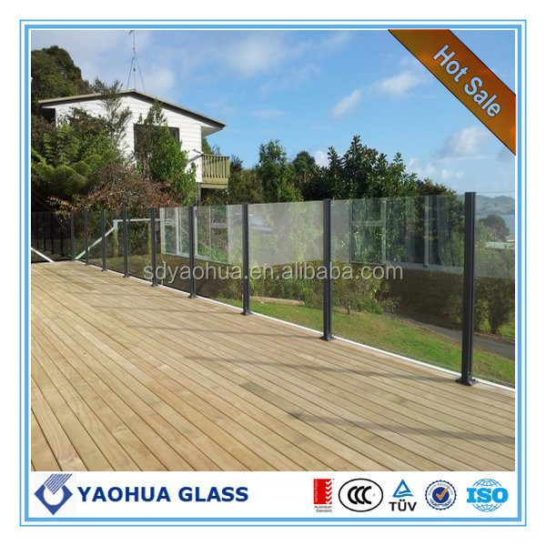 Frameless Glass Fencing toughened glass AS/NZS