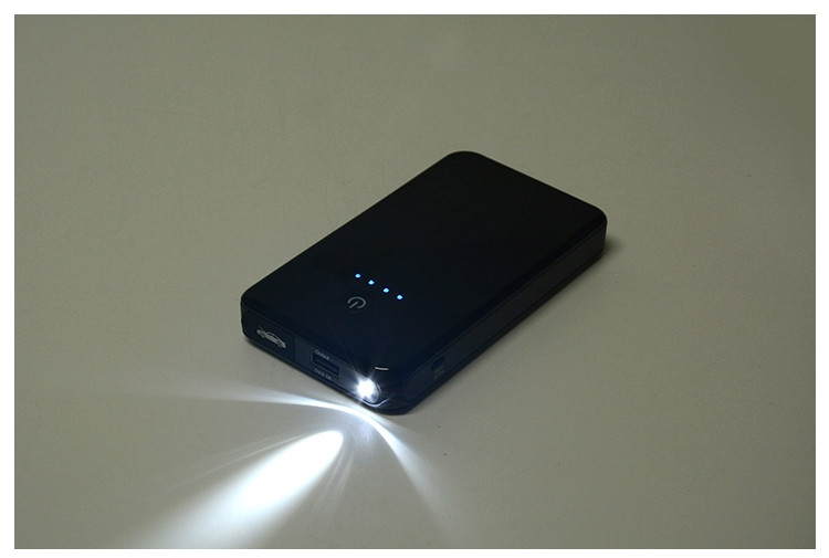New design super slim 8000m jump starter battery portable power bank easy to carry