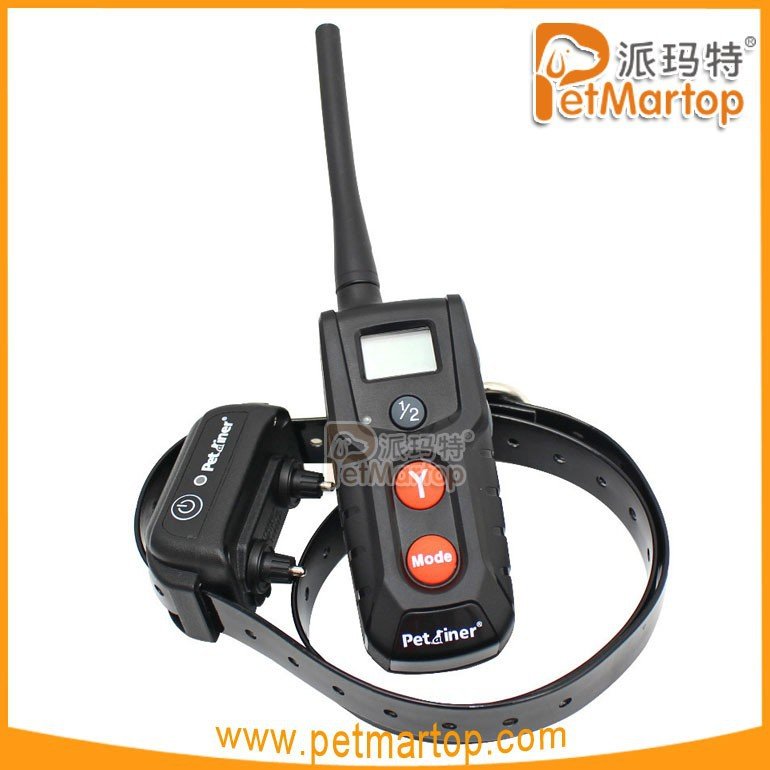 CE Compass LCD Remote Control + Electric Shock Vibrate Collar Dog Training System