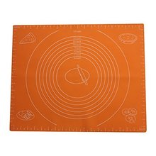 Size(40*50cm) Silicone Pastry Mat with Measurements,Pastry Rolling Mat, Reusable Non-Stick Silicone Baking Mat