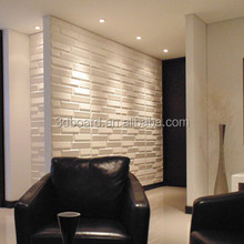 Hot sale brick textured wall panels colored wall paneling in mdf