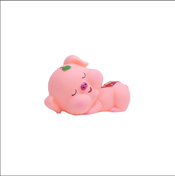 high quality soft plastic pig coin bank