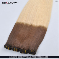 Tangle Free Unprocessed Indian Good Feedback 100% Human Factory Price Wholesale Ombre Hair Extensions