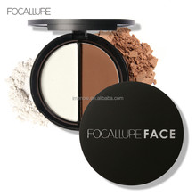 Brand Beauty Cosmetics High Quality with 2 Colors Pressed Powder Fundation