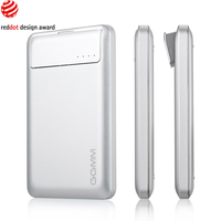 GGMM Streamliner 6000mAh Ultra-Slim Aluminum Dual USB portable Charger External Battery Pack Backup Power Bank Silver
