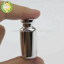 clear glass essential Oil Bottle for cosmetic packaging with gold cap