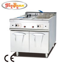 Freestanding Stainless steel double tank Gas deep fryer with Cabinet GF-985