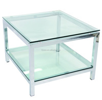 Wholesale cheap simple design glass coffee table side table JY-1522C
