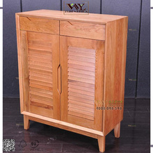 Solid Oak Living Room Wood Cabinet Furniture