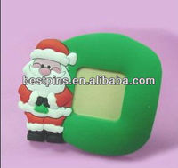 red clothes Santa Claus green pvc photo /picture frames