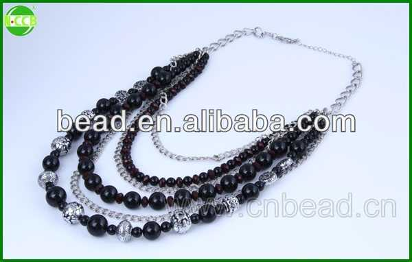 2015 fashion handmade necklaces handmade jewelry black agate necklace