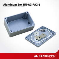 Factory Price Hennepps 120*80*55 HN-AG-FA2-1 Metal Box IP66 Waterproof Junction Box Project Aluminum Electronic Enclosures