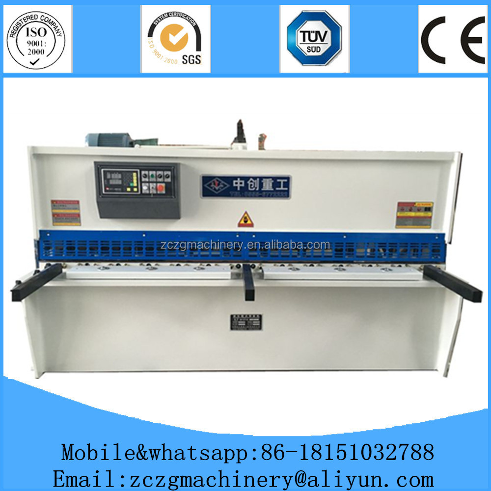 CNC sheet iron metal stainless steel cutting machine used hydraulic shearing cutter