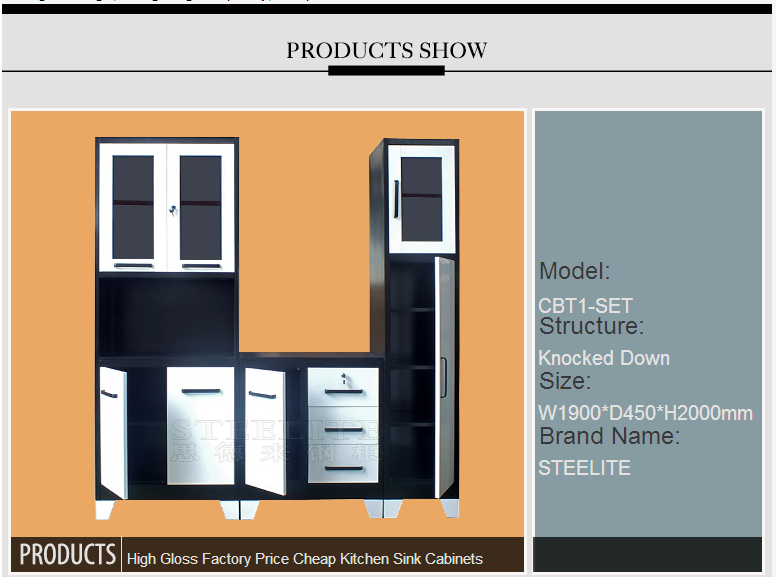 High gloss factory price kitchen wall cabinets with glass for High gloss kitchen wall units