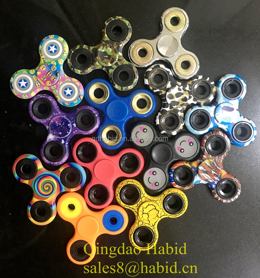 hybrid Ceramic bearings 608 for stress release factory price ABS steel material glow in the dark fidget hand spinner