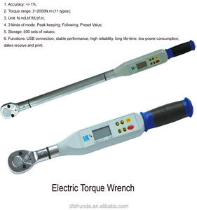Interchangeable 20-100Nm 1/2 Inch Electronic Value Digital Reversible Preset Torque Wrench Set