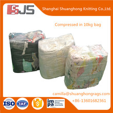 10kg bale of t shirt type cotton rags for industrial cleaning rags