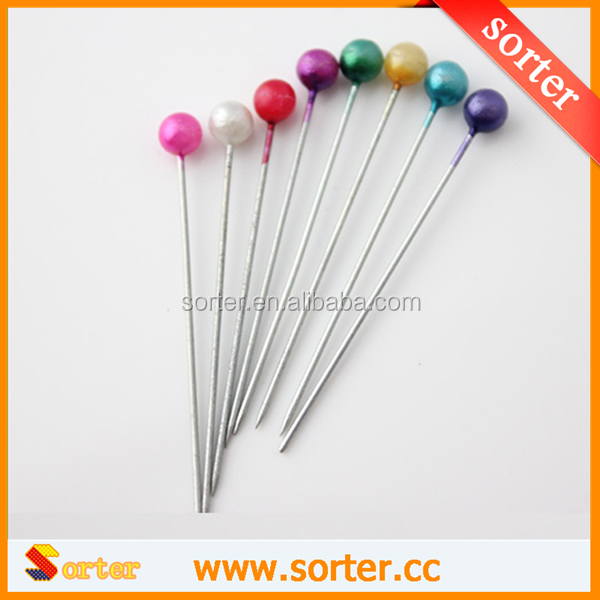 2015 New Design High Quality Coloured Value Pack Dressmaker Tailor Craft Pearl Head Pins