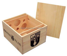 wooden wine boxes for 6 bottles