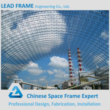 Structural Steel Fabrication Space Frame Barrel Coal Shed