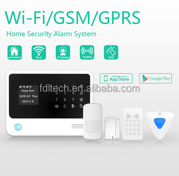 FDL-G90B 2016 New Product WiFi GSM Alarm,gsm based door security system RFID Keypad,yard security alarm system