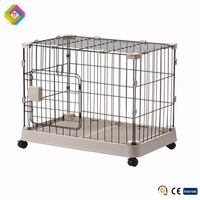 Stainless Steel Folding Dog Cage pet supplies dog