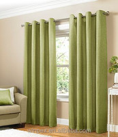 Hot Sell 100% Polyester Faux Linen Solid Curtain