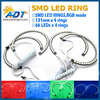 LED Angel Eye RGB Halo Ring Angel Eye for BMW E36 E38 E39 E46 3 5 7 Series Xenon Headlight SMD Kit with projector