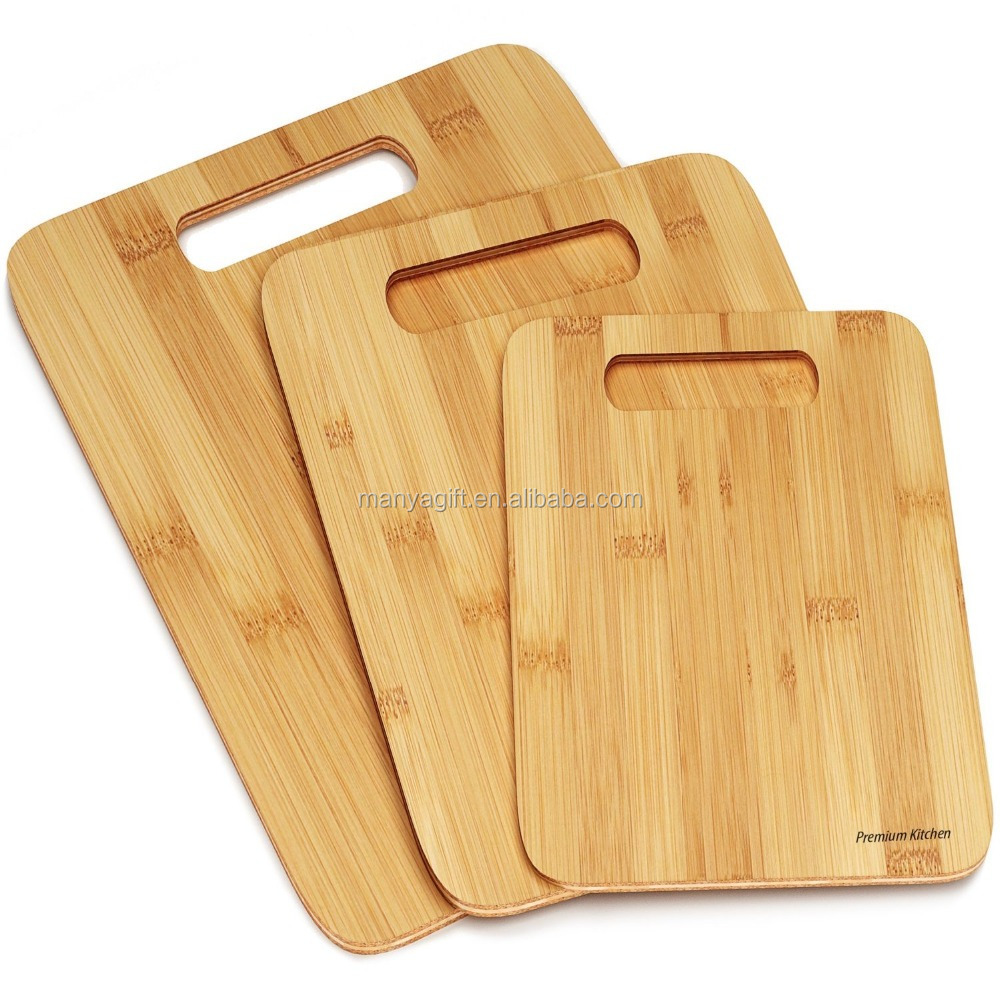 Organic round Cutting Board with handle