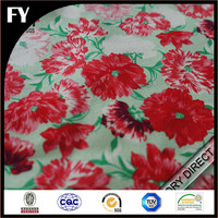 China Hangzhou Factory Digital Fabrics Uses For 100% Cotton Sateen Rose Flower Print Fabric