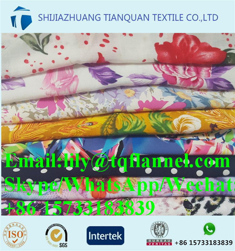 Wholesale Quality Assured customized flower printed rayon fabric stock