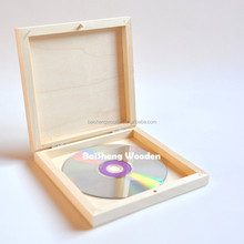 Cheap unfinished CD wood boxes wooden packaging box for CD