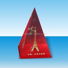 High Transparent Acrylic Paperweight Clear Acrylic Pyramid Factory