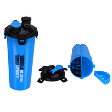 Two Side Nutrition custom protein shake bottle 700ml dual shakers 24oz