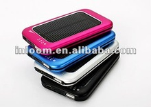 Portable universal solar charger, solar power bank for mobile phone/iPhone/iPad/tablet
