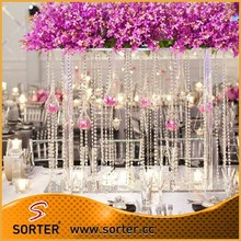 Interior decorative colorful acrylic crystal bead curtain for <strong>wedding</strong> & events decoration