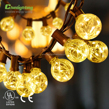 Holiday Outdoor Festoon Lighting G40 Copper Wire bulb Warm White LED String Light
