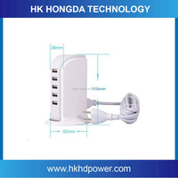 Hot selling Multi USB Charger 5 port charging station with EU/US/ UK for all smart phone