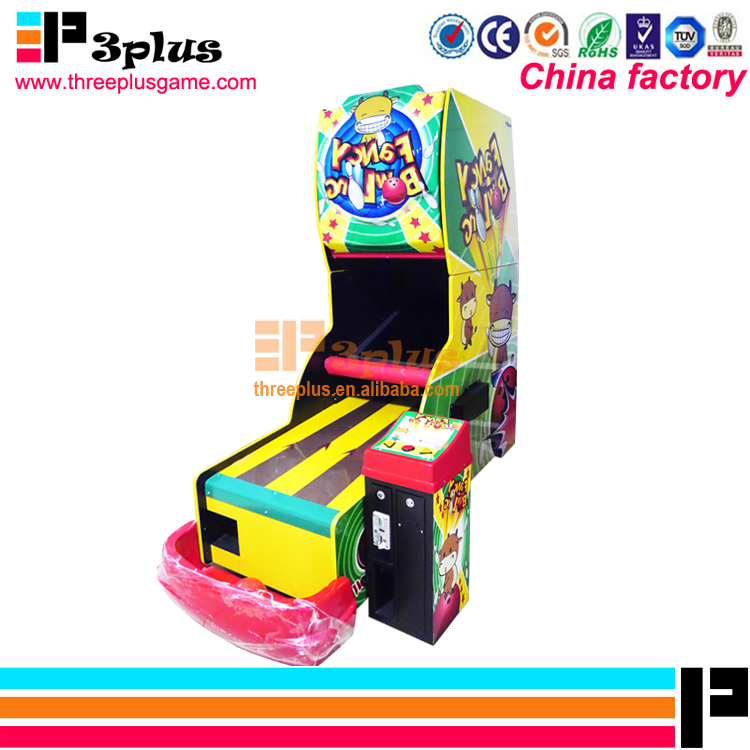 Coin operated high quality electronic lottery arcade game bowling machine