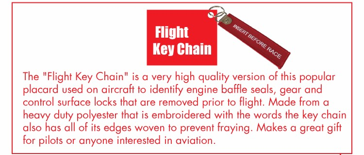 Wholesale Embroidery Type Custom flight key chain