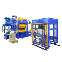 QT10-15 concrete block production line brick making machine price in india