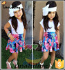 hot summer girls 2pc clothing sets children floral clothes kids summer wears