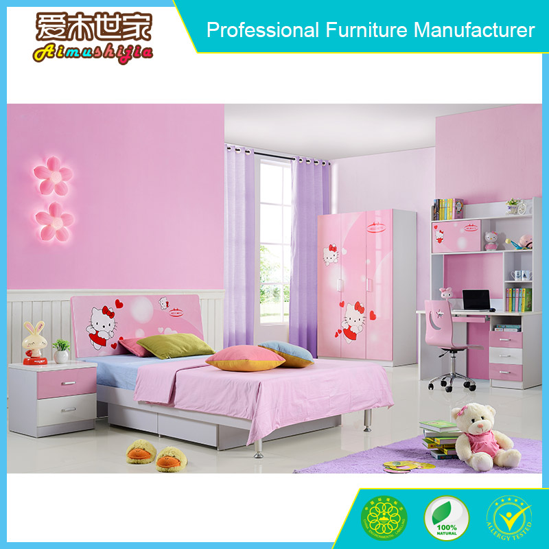 good quality fresh natural style teenager bedroom set