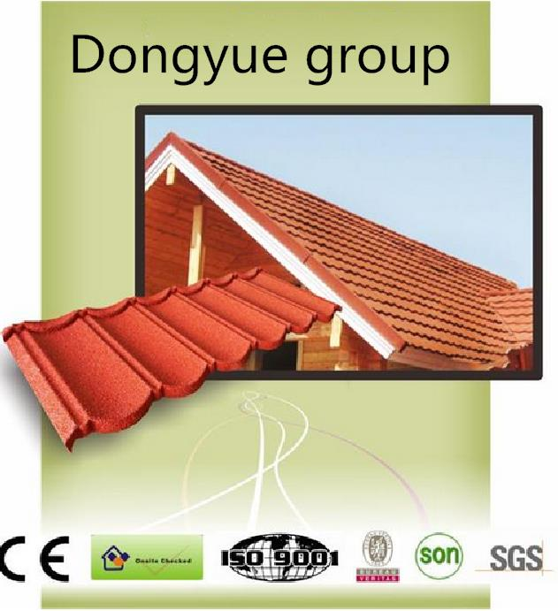 Waterproof and heat resistence cheap stone coated metal roof tile/ asphalt roofing shingle plastic roof tile