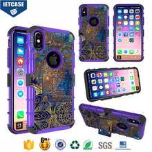 Custom Design Color Printing PC+TPU Hybrid Combo Shockproof Smartphone Case Belt Cover for iPhone 8