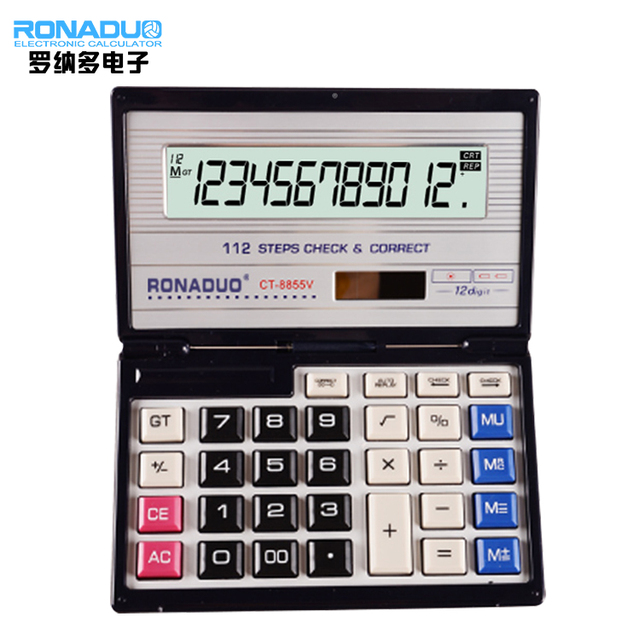 calculator with cover with solar promotional note book calculator