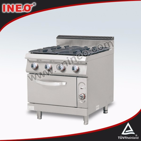 Commercial Restaurant 4 burner propane stove with oven/electric oven hob